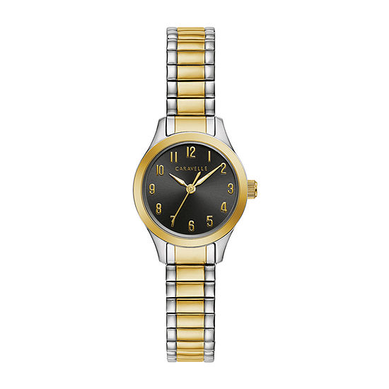 Caravelle Designed By Bulova Womens Two Tone Stainless Steel Expansion Watch-45l185