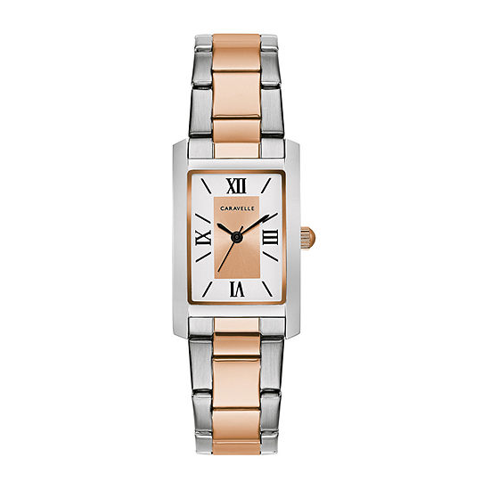 Caravelle Designed By Bulova Womens Two Tone Stainless Steel Bracelet Watch-45l187
