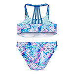 Arizona Mermaid Big Girls Abstract Bikini Set