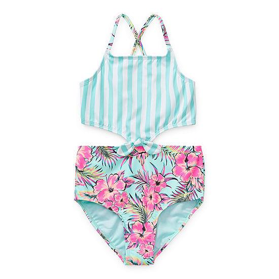 Arizona Big Girls One Piece Swimsuit