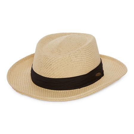 1940s Mens Hats | Fedora, Homburg, Pork Pie Hats Panama Jack Mens Panama Hat Large-x-large  Brown $19.19 AT vintagedancer.com
