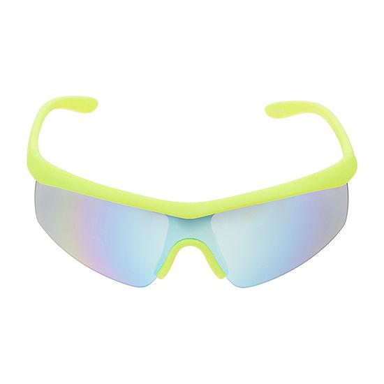 Xersion Mens Half Frame Wrap Around Sunglasses