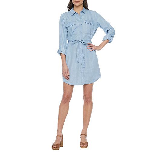a.n.a-Tall Long Sleeve Shirt Dress