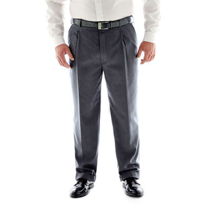 Stafford® Travel Charcoal Pleated Suit Pants - Big & Tall