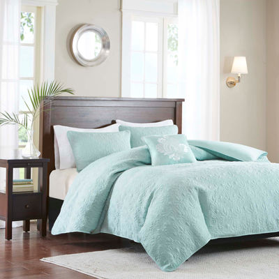 Madison Park Mansfield 4-pc. 2-in-1 Duvet & Coverlet Set