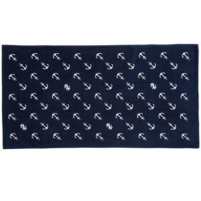 IZOD® Diagonal Anchors Beach Towel
