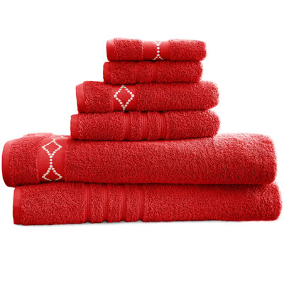 Diamond Embroidered Egyptian Cotton 6-pc. Towel Set
