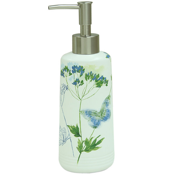 Bacova Indigo Wildflowers Soap Dispenser