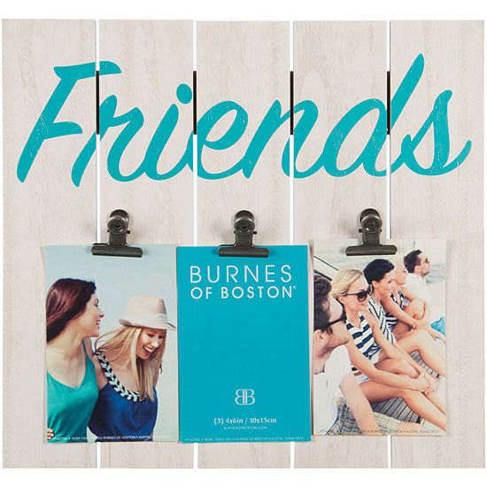 """Friends 3-Clip Panel 4x6"""" Picture Frame"""
