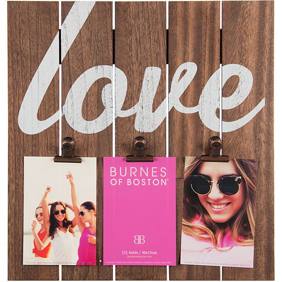 "Love 3-Clip Panel 4x6"" Picture Frame"