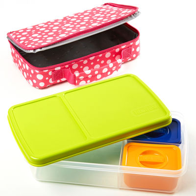 Fit & Fresh® Bento Hoot Dot 4-pc. Kids Lunch Kit