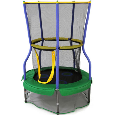"Skywalker Trampolines® 40"" Round Lily Pad Adventure Bouncer with Enclosure"