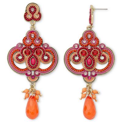Multicolor Scroll Dangle Earrings