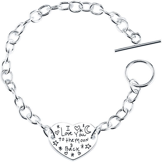 "Inspired Moments™ ""I Love You To The Moon and Back"" Bracelet Sterling Silver"