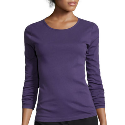 Liz Claiborne® Long-Sleeve Knit T-Shirt