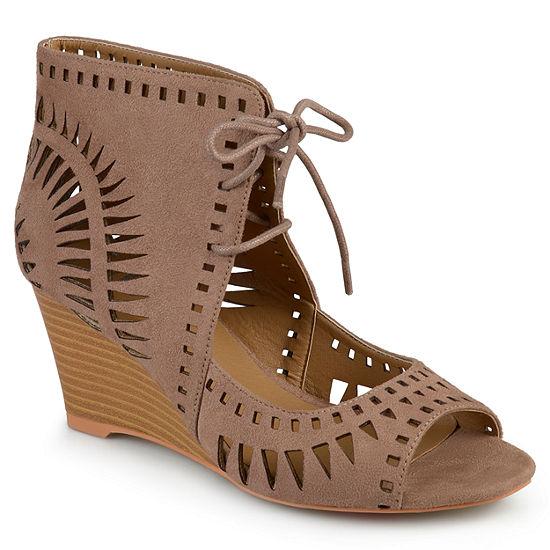 Journee Collection Womens Zola Pumps Wedge Heel