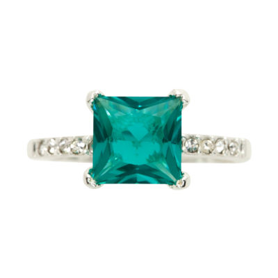 Sparkle Allure Green Cocktail Ring
