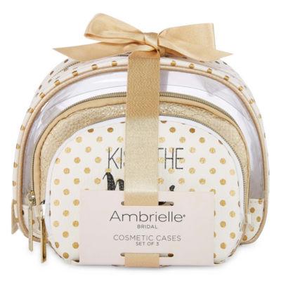 Ambrielle Bridal 3-pc. Makeup Bag
