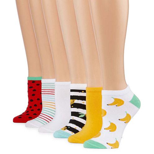 Mixit 6pk Low Cut Socks