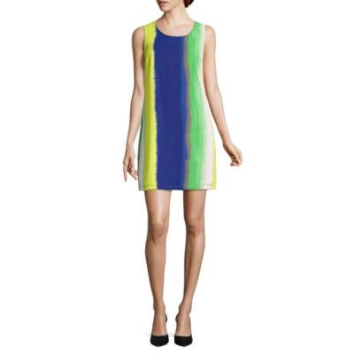 AVI-8 Sleeveless Embellished Stripe Shift Dress