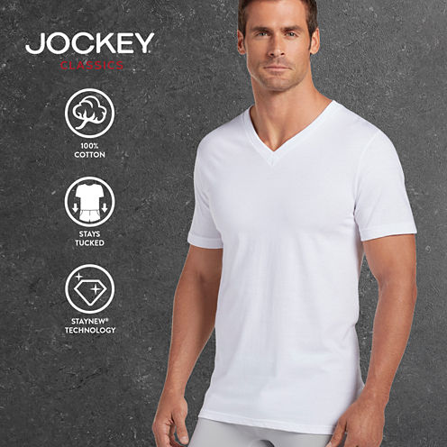 Jockey® 3-pk. Classics V-Neck T-Shirts
