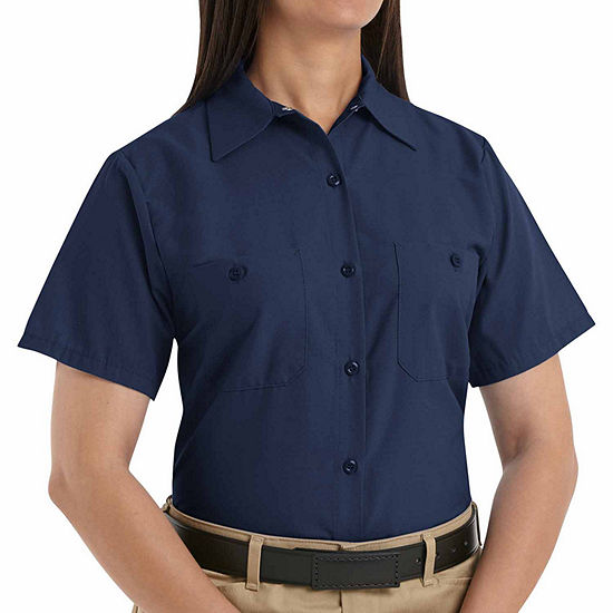 Wranglers® Womens Industrial Short-Sleeve Work Shirt - Plus