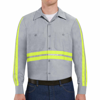Red Kap® Long-Sleeve Enhanced Visibility Work Shirt - Big & Tall