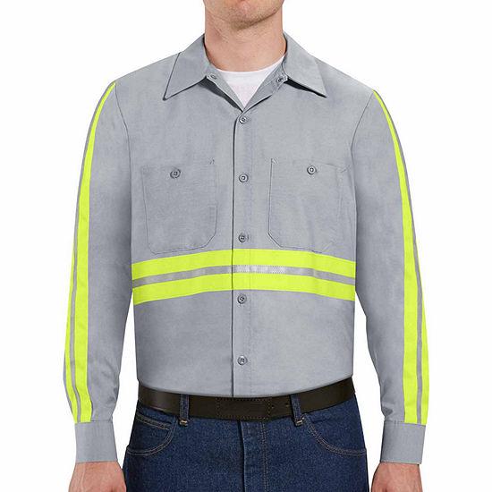 Red Kap® Long-Sleeve Enhanced Visibility Work Shirt - Big & Tall