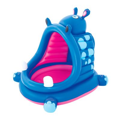 Bestway H2OGO 44 Inches x 39 Inches x 38 Inches Covered Hippo Baby Pool