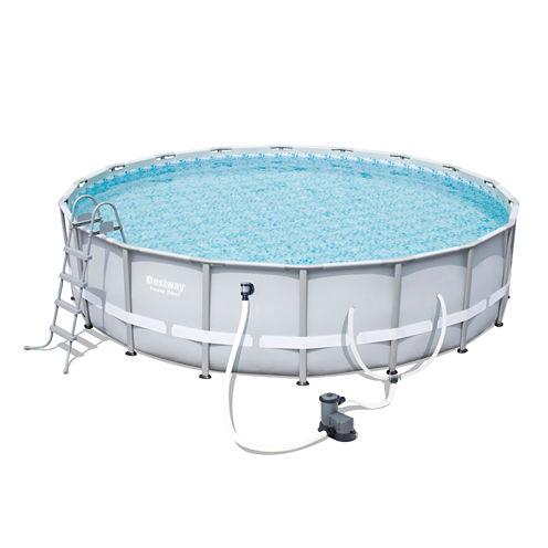 Bestway Power Steel 18 Foot x 48 Inch Pool Set