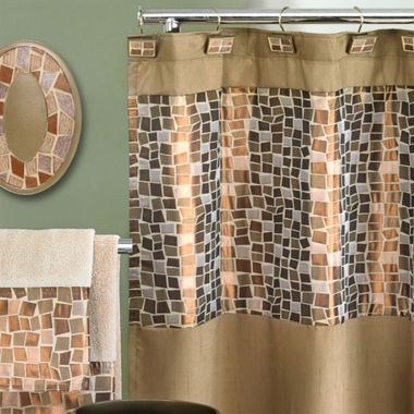 Popular Bath Mosaic Stone Shower Curtain