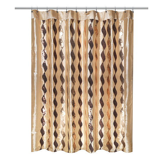 Popular Bath Shimmer Shower Curtain
