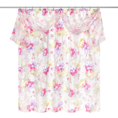Popular Bath Flower Haven Shower Curtain