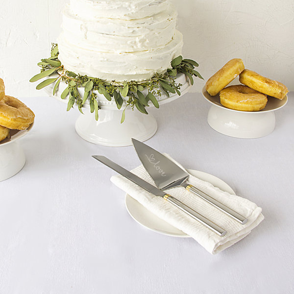 Cathy's Concepts Golden Love Cake Server