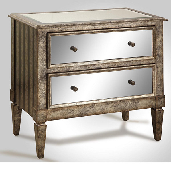 Antique 2-Drawer Mirrored Console