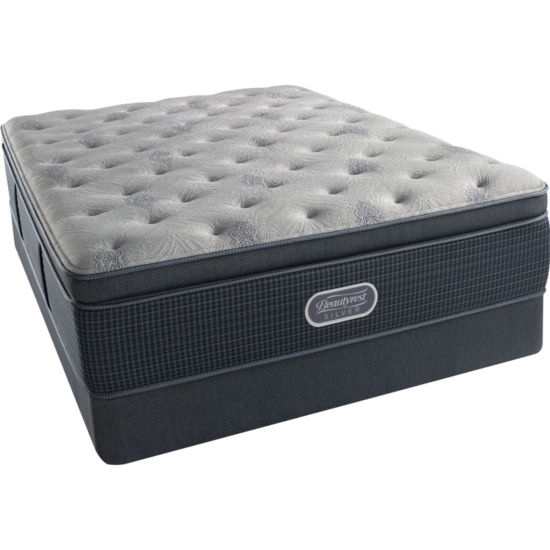 Simmons Beautyrest Silver® Emory Hope Pillowtop Luxury Firm - Mattress + Box Spring