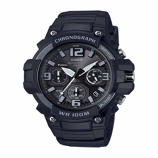 Casio Mens Black Strap Watch-Mcw100h-1a3v