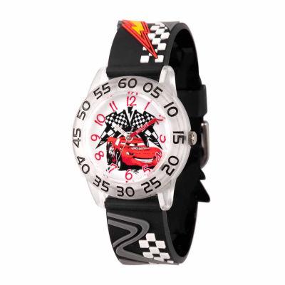 Disney Cars Boys Black Strap Watch-Wds000021