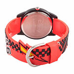Cars Boys Red Strap Watch-Wds000024