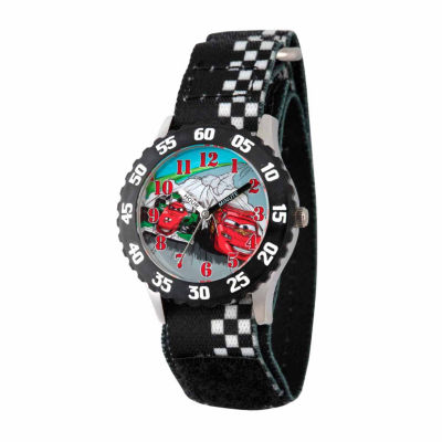 Disney Cars Boys Black Strap Watch-Wds000025