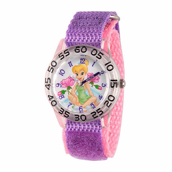 Disney Tinker Bell Girls Purple Strap Watch Wds000104