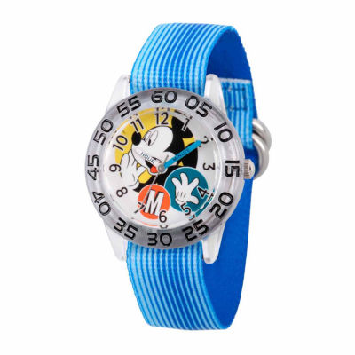 Disney Mickey Mouse Boys Blue Strap Watch-Wds000113