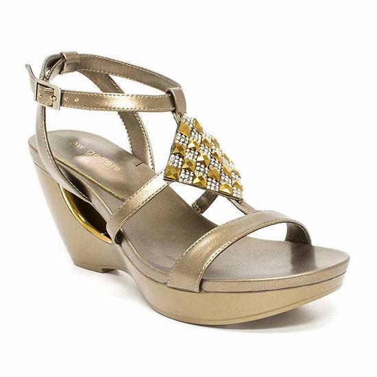 Andrew Geller Womens Alexandra Wedge Sandals