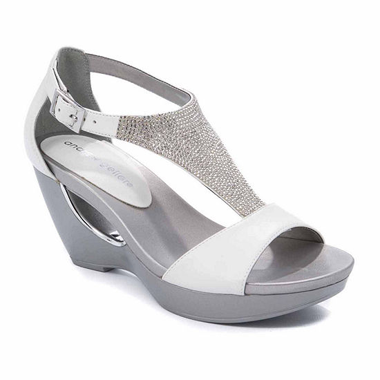 Andrew Geller Womens Arana Wedge Sandals