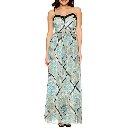 Bisou Bisou Sleeveless Paisley Maxi Dress