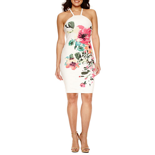 Bisou Bisou Sleeveless Floral Sheath Dress