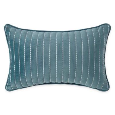 Liz Claiborne Magnolia Velvet Oblong Decorative Pillow