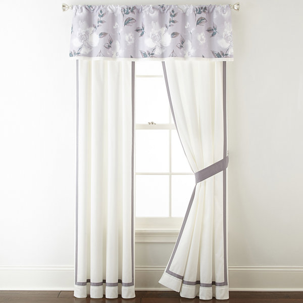 Liz Claiborne Magnolia 2-Pack Rod Pocket Curtain Panel
