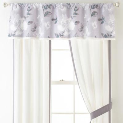 Liz Claiborne Magnolia 2-Pack Rod Pocket Curtain Panel