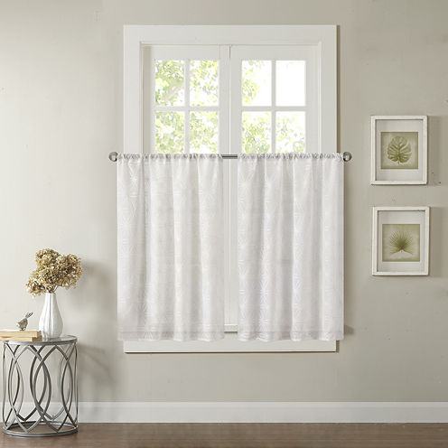 Madison Park Kida Grommet-Top Kitchen Curtains Rod-Pocket Window Tiers